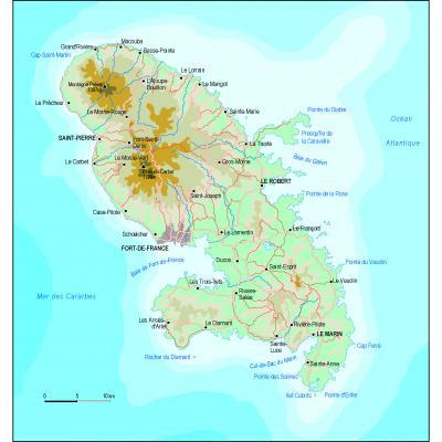 Cartographie générale de la Martinique